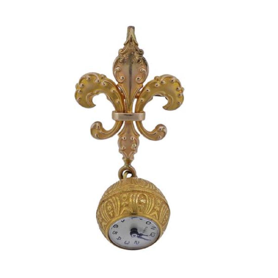 Gubelin 18K Gold Lapel Watch