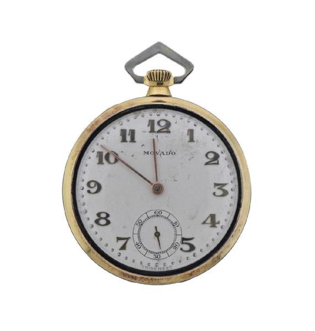 Movado 18K Gold Pocket Watch