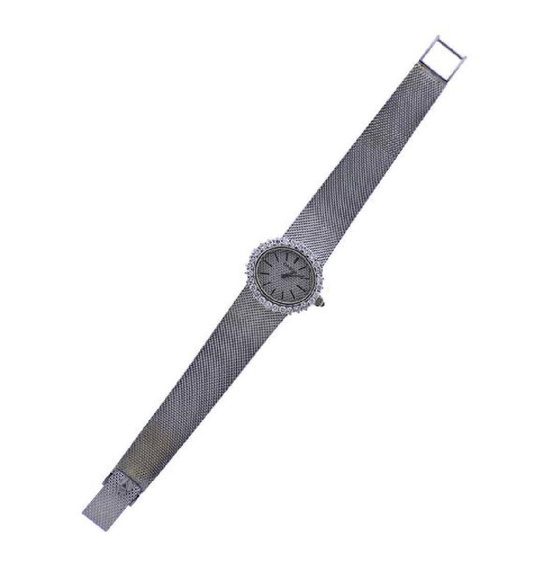 Omega 18k Gold Diamond Manual Wind Watch