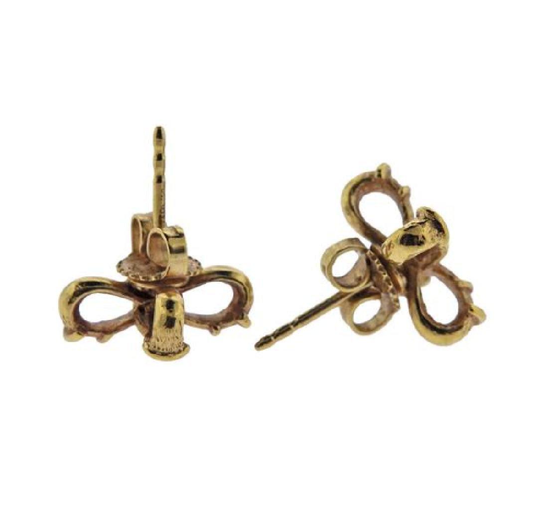 Tiffany & Co 18K Gold X Earrings - 2