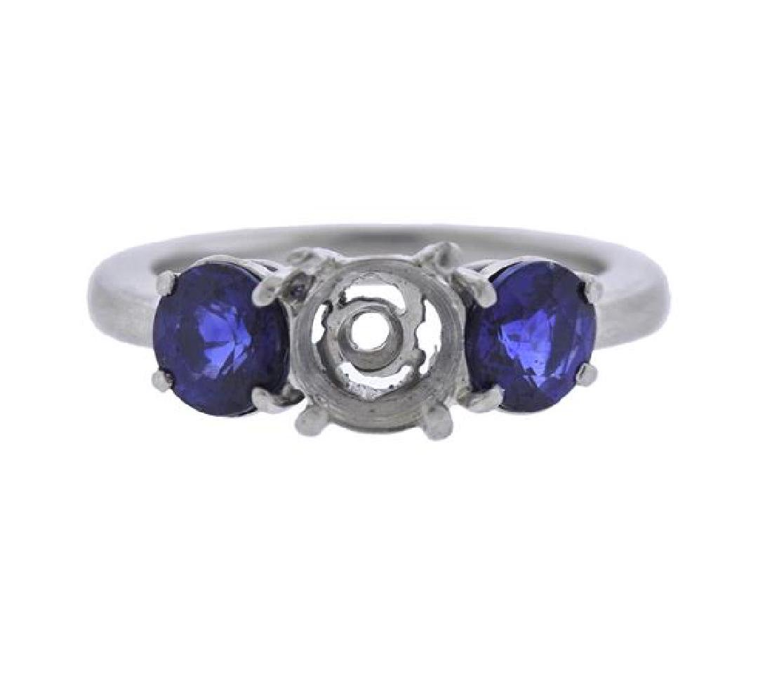 Platinum Blue Stone Ring Mounting