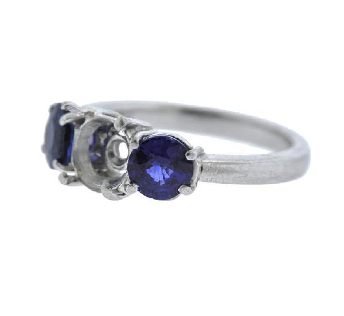 Platinum Blue Stone Ring Mounting - 2