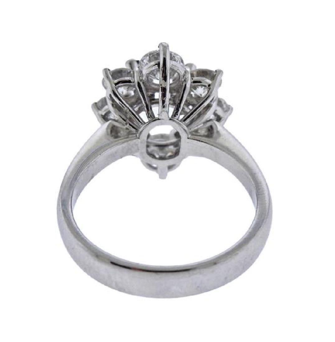 18K Gold Diamond Engagement Ring Mounting - 3