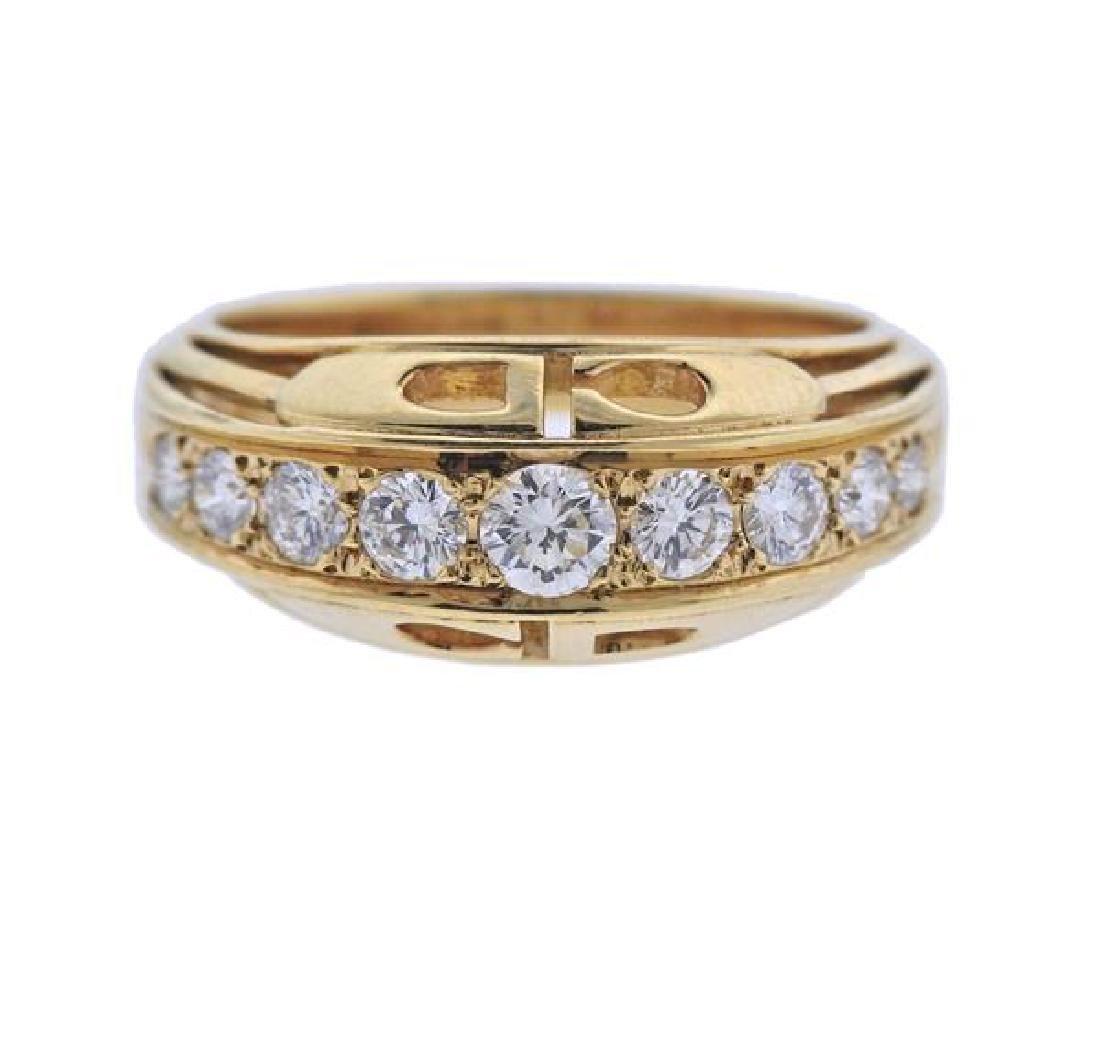 Christian Dior 18K Gold Diamond Ring