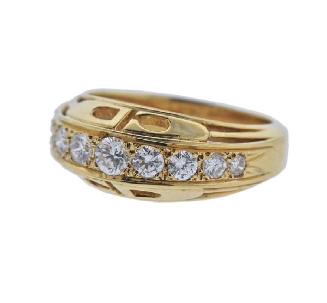 Christian Dior 18K Gold Diamond Ring - 2