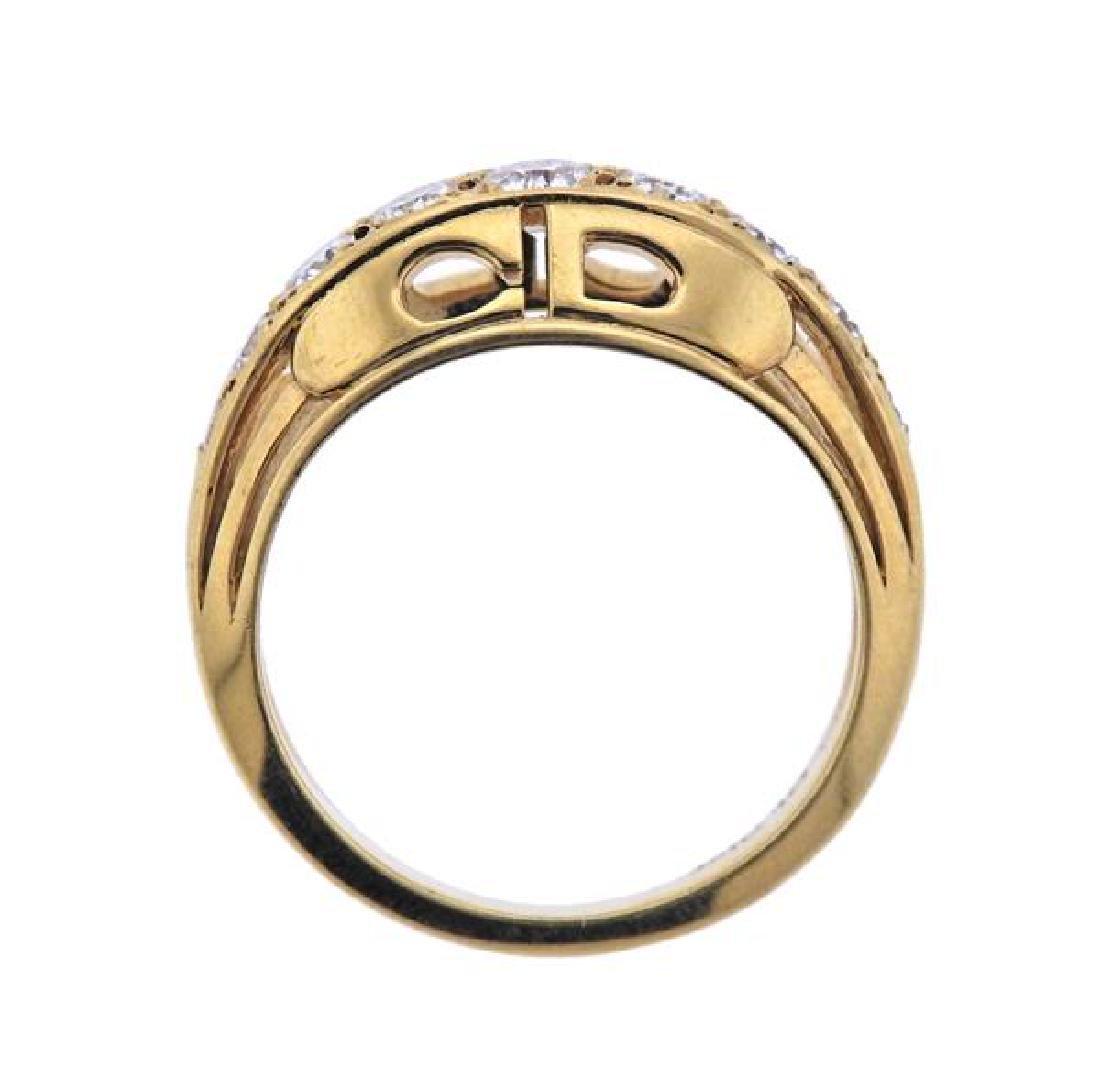Christian Dior 18K Gold Diamond Ring - 3