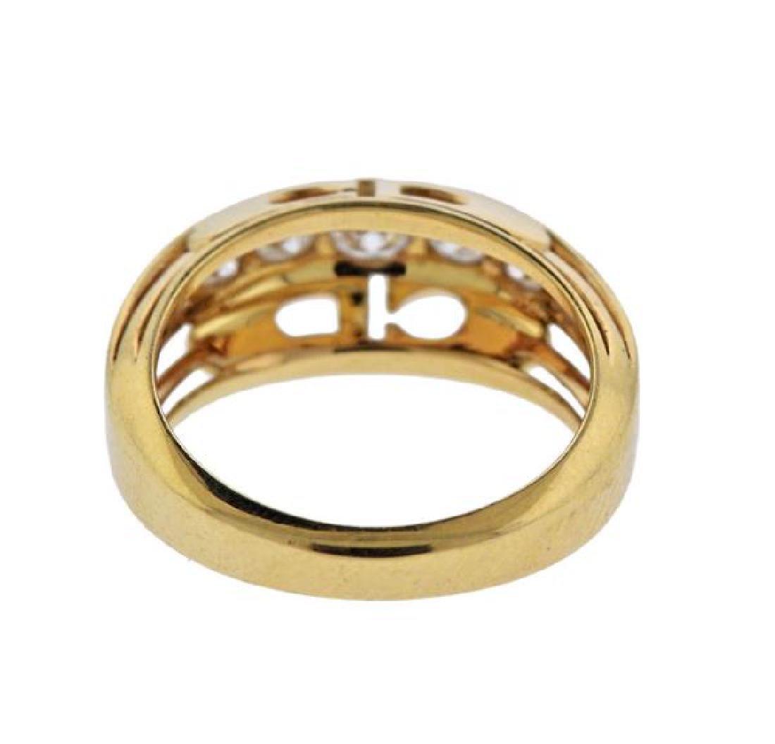 Christian Dior 18K Gold Diamond Ring - 4