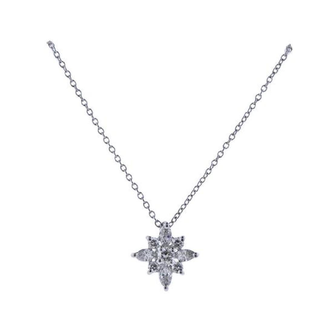 Kwiat Platinum Diamond Star Pendant Necklace