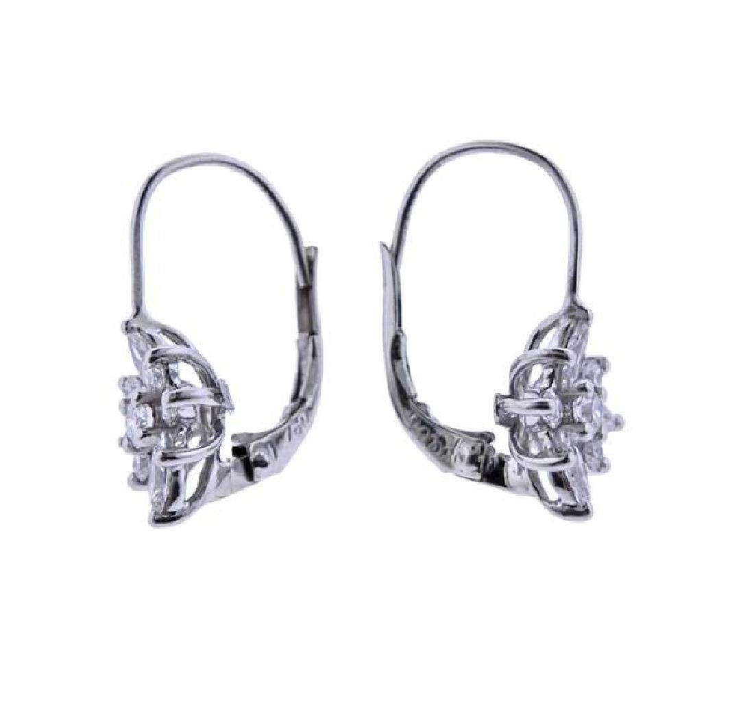 Kwiat Platinum 18K Gold Diamond Star Earrings - 2