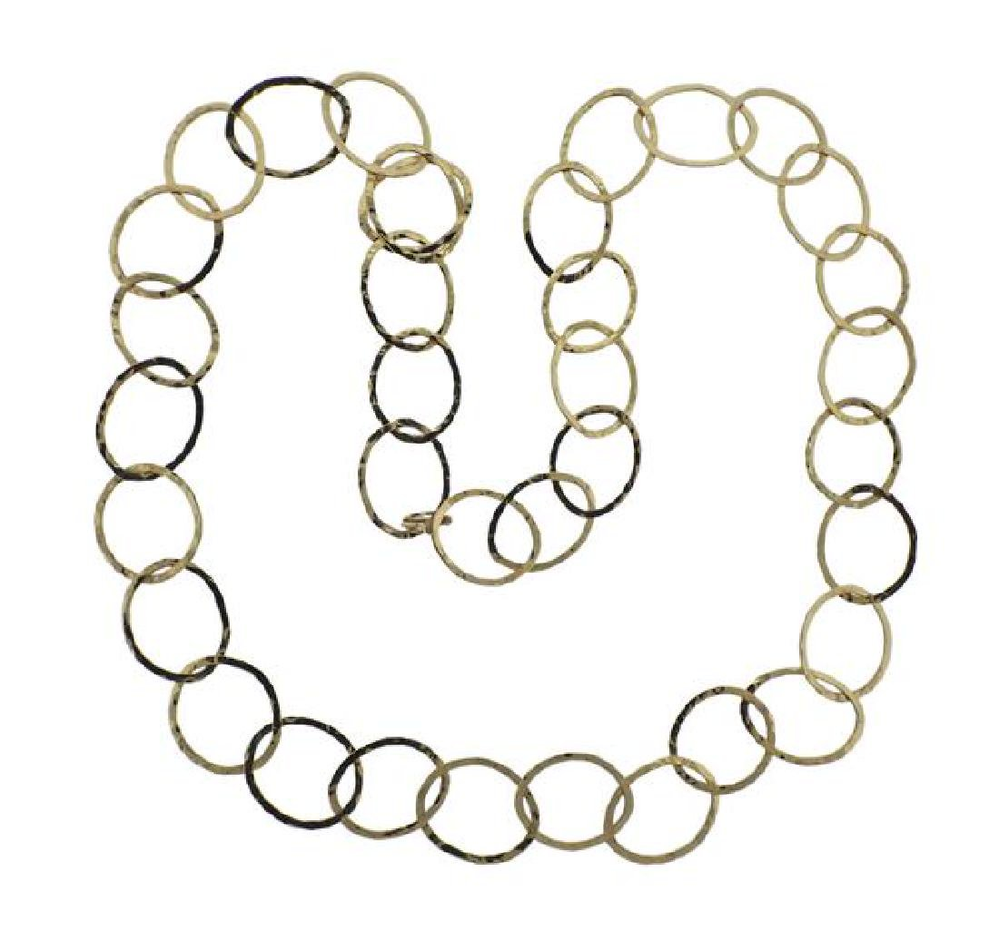14K Gold Oval Link Necklace