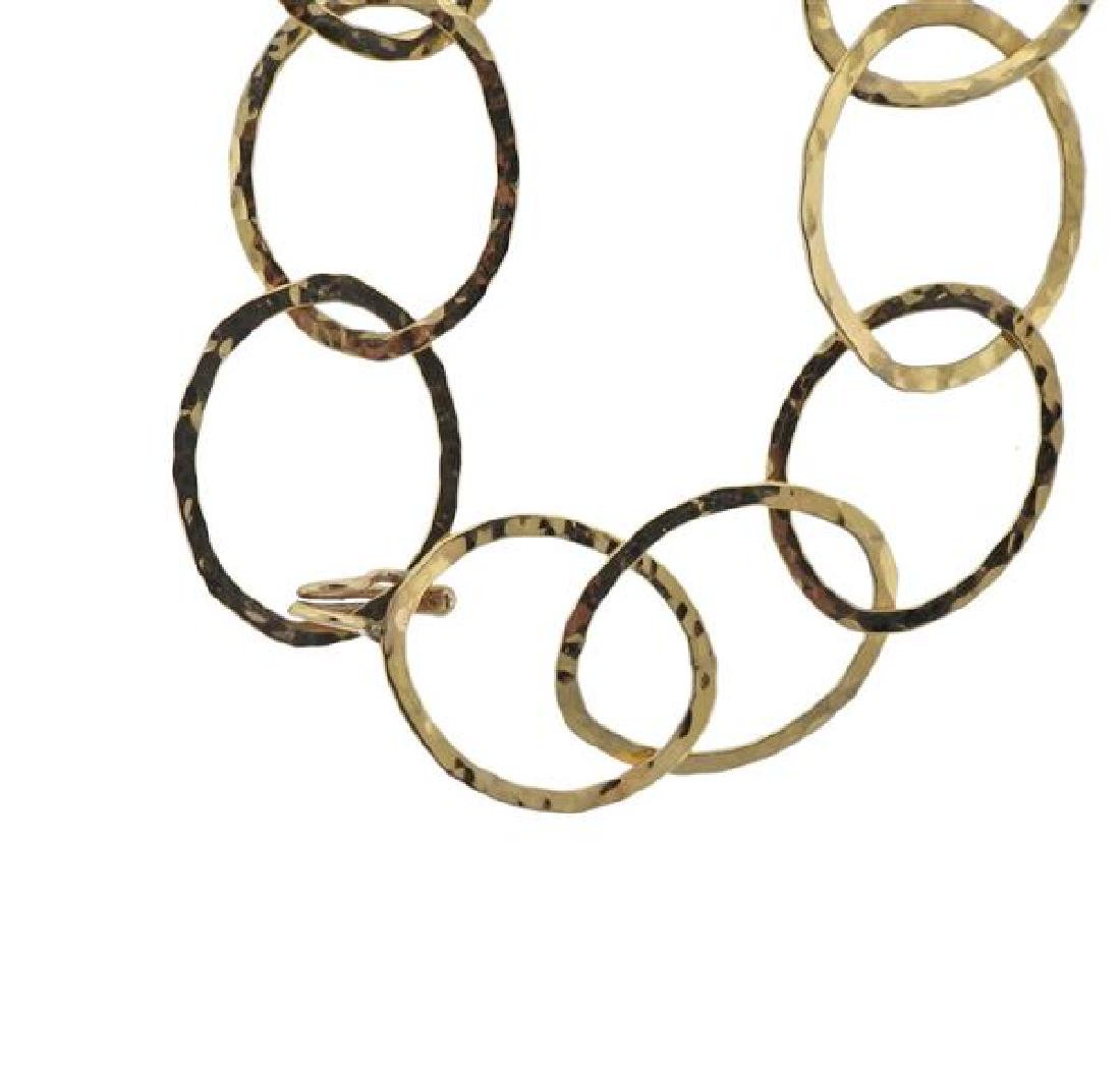 14K Gold Oval Link Necklace - 2