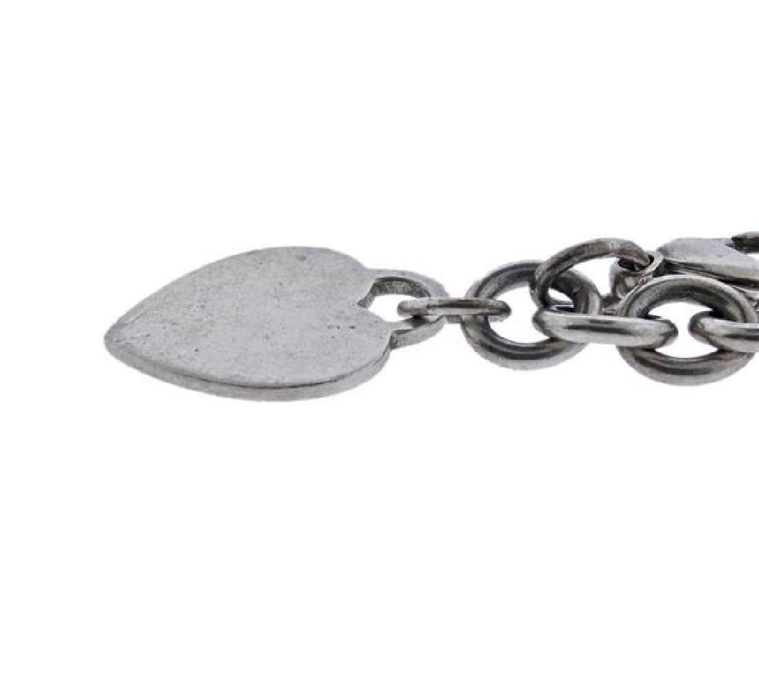 Tiffany & Co Sterling Heart Charm Chain Bracelet - 3