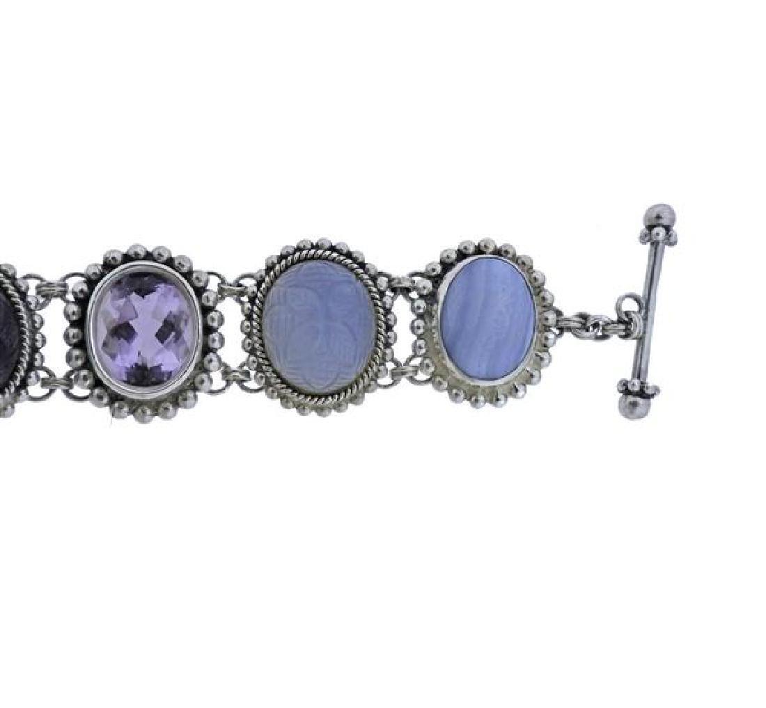 Stephen Dweck Sterling Multi Gemstone Toggle Bracelet - 2