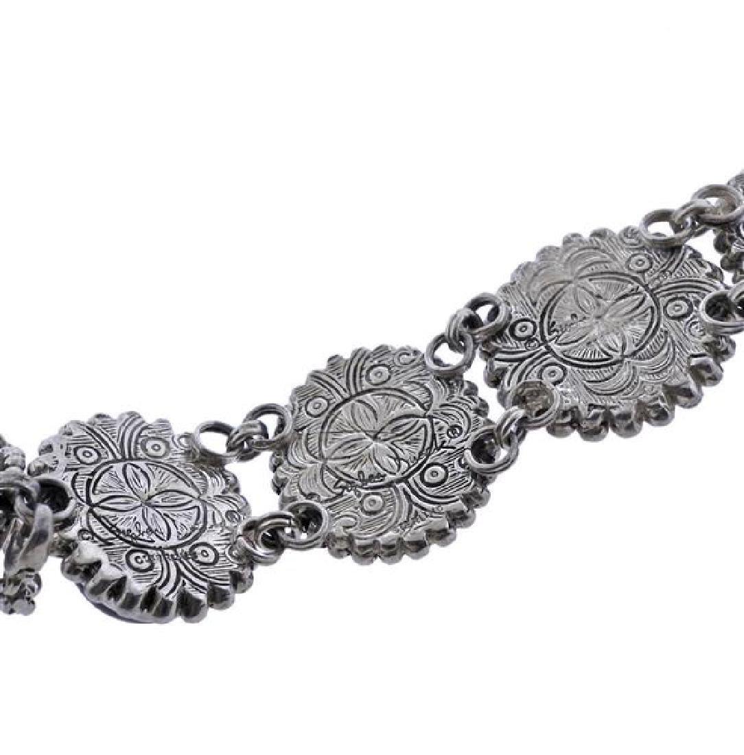 Stephen Dweck Sterling Multi Gemstone Toggle Bracelet - 5