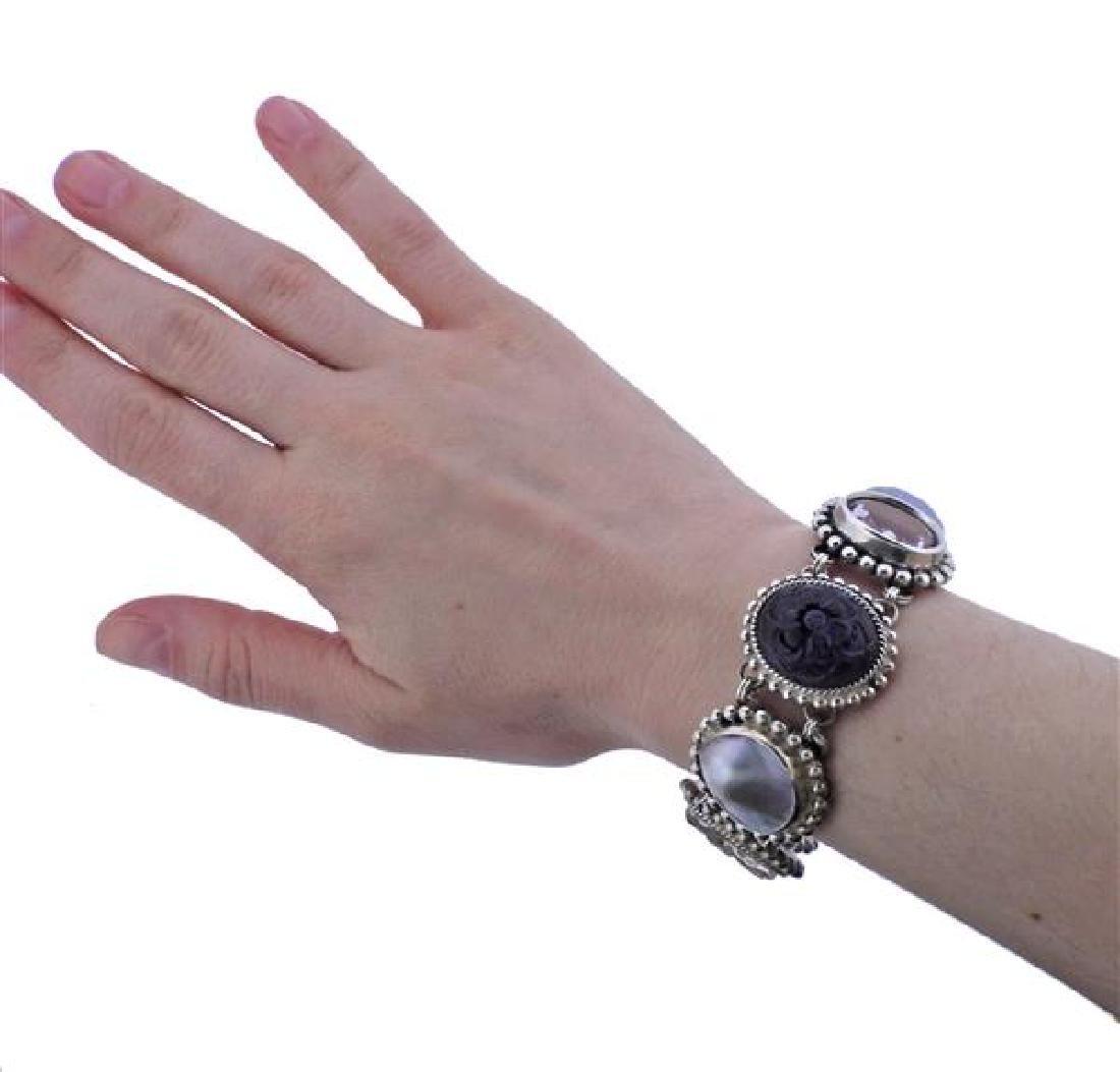 Stephen Dweck Sterling Multi Gemstone Toggle Bracelet - 6