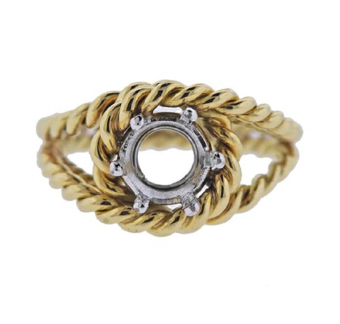 18K Gold Ring Mounting