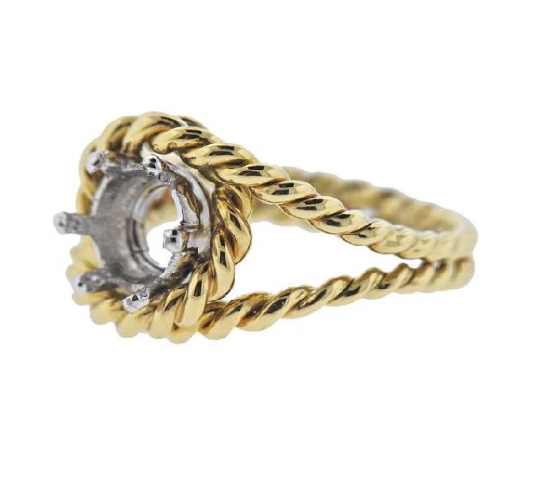 18K Gold Ring Mounting - 2