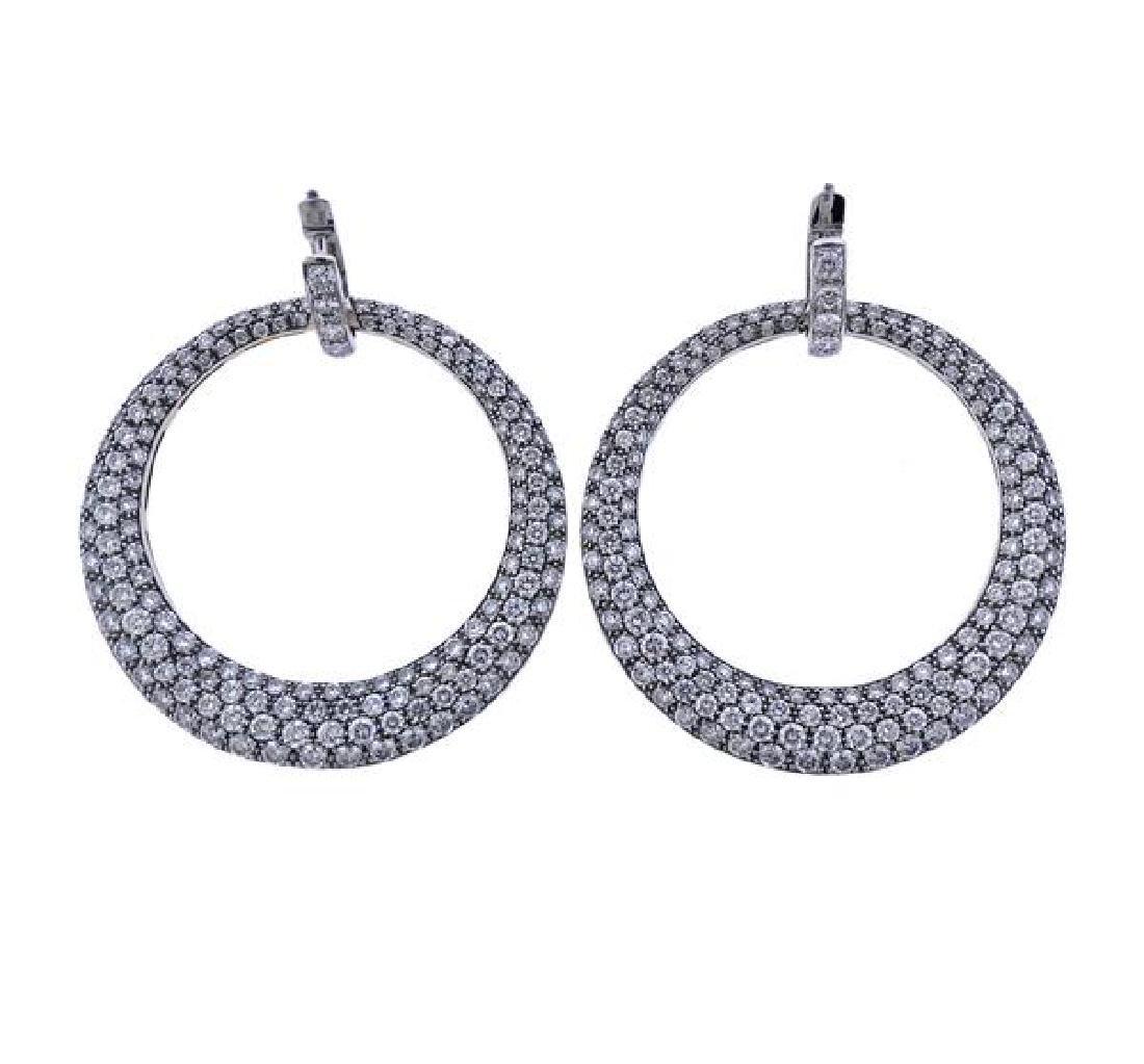 Carrera Y Carrera Sol Y Sombra  Diamond Gold Earrings