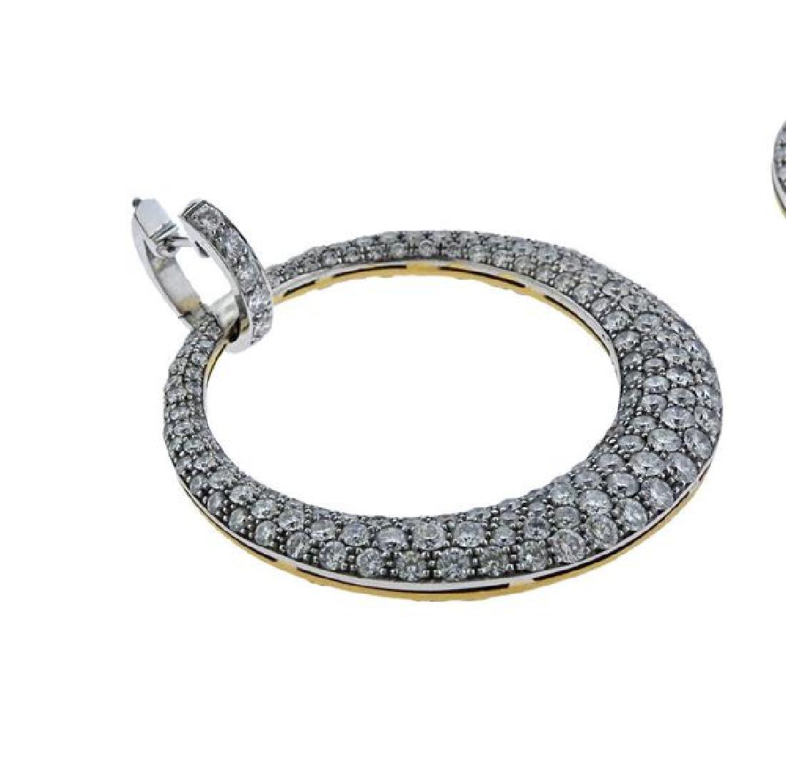 Carrera Y Carrera Sol Y Sombra  Diamond Gold Earrings - 2