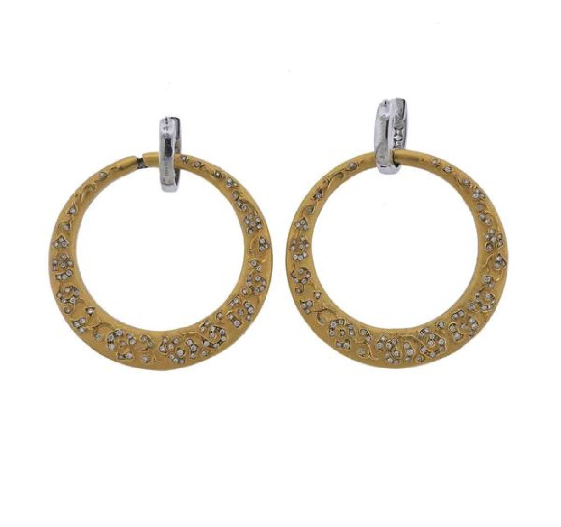 Carrera Y Carrera Sol Y Sombra  Diamond Gold Earrings - 3