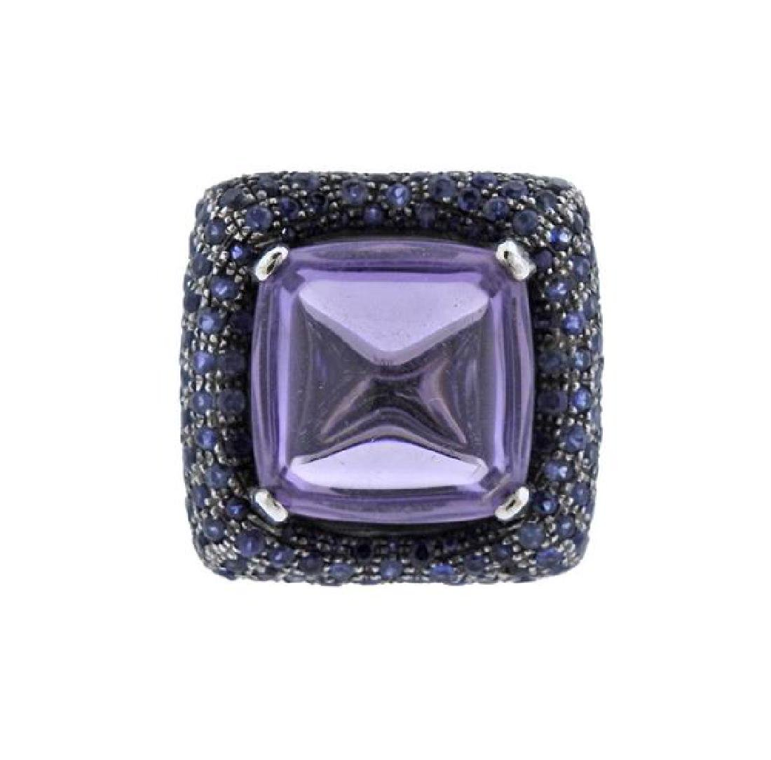 Pesavento 18k Gold Amethyst Sapphire Cocktail Ring