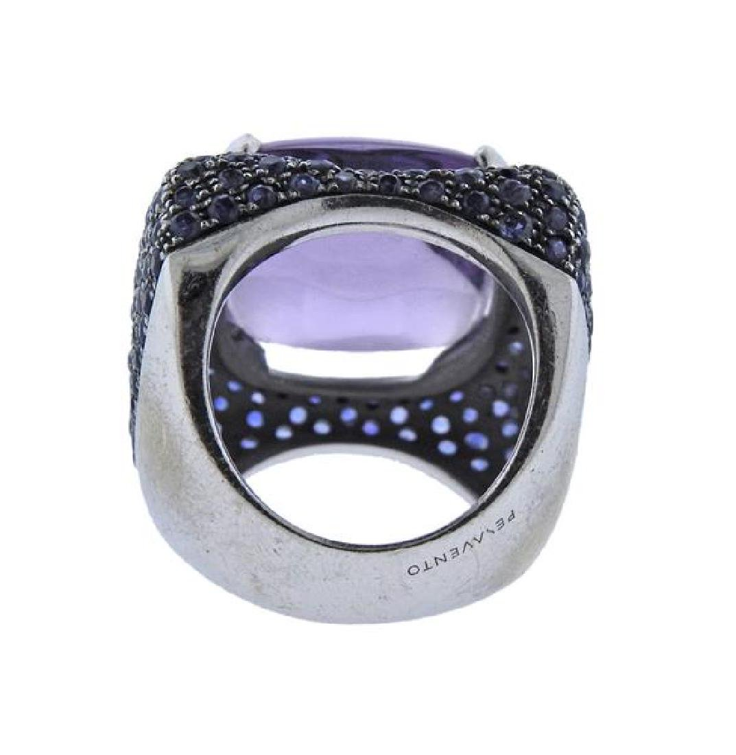 Pesavento 18k Gold Amethyst Sapphire Cocktail Ring - 3