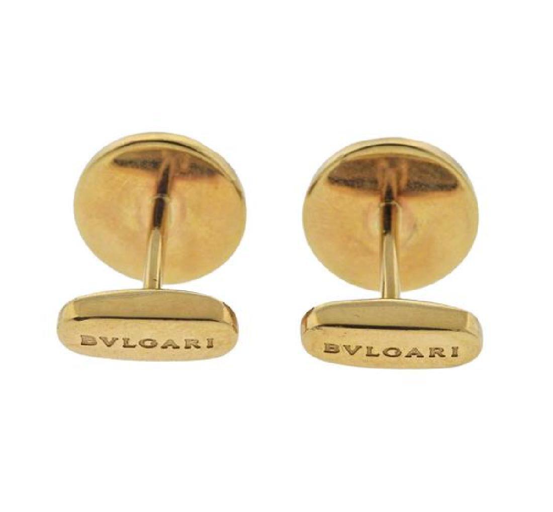 Bvlgari Bulgari Mother of Pearl 18k Gold Cufflinks - 3