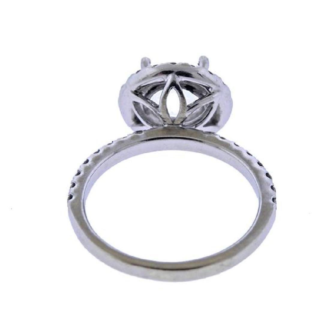 14k Gold Diamond Halo Engagement Ring Setting - 3