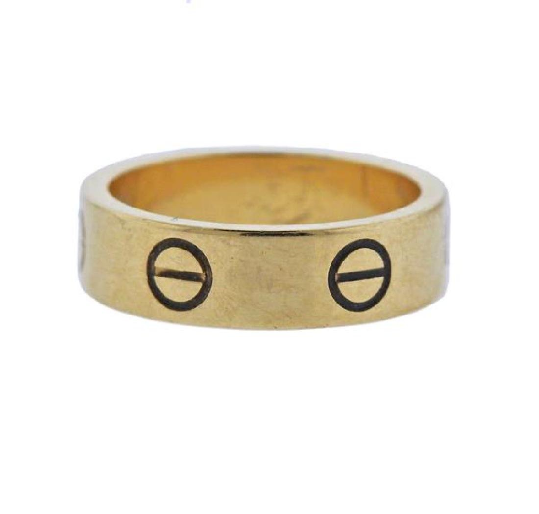 Cartier Love 18K Gold Band Ring