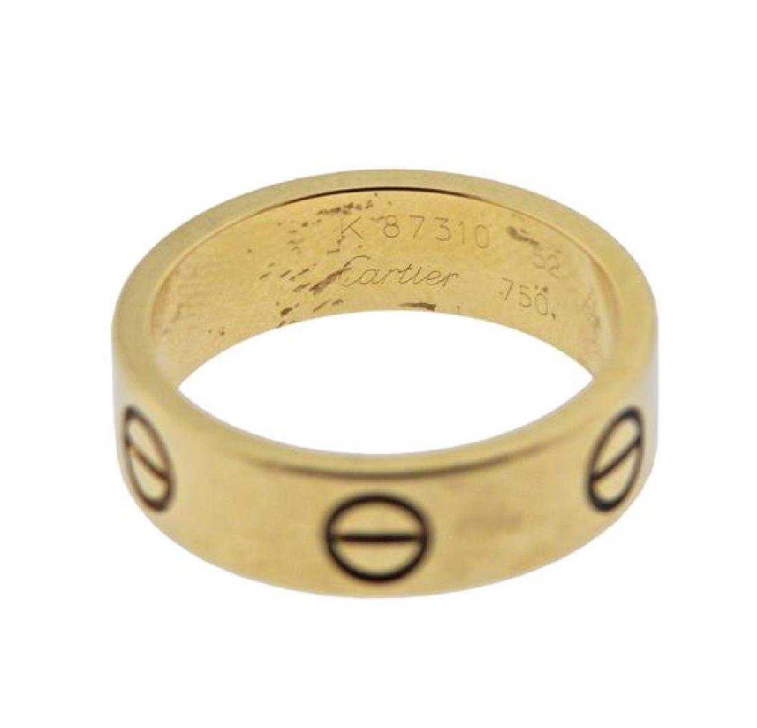 Cartier Love 18K Gold Band Ring - 2