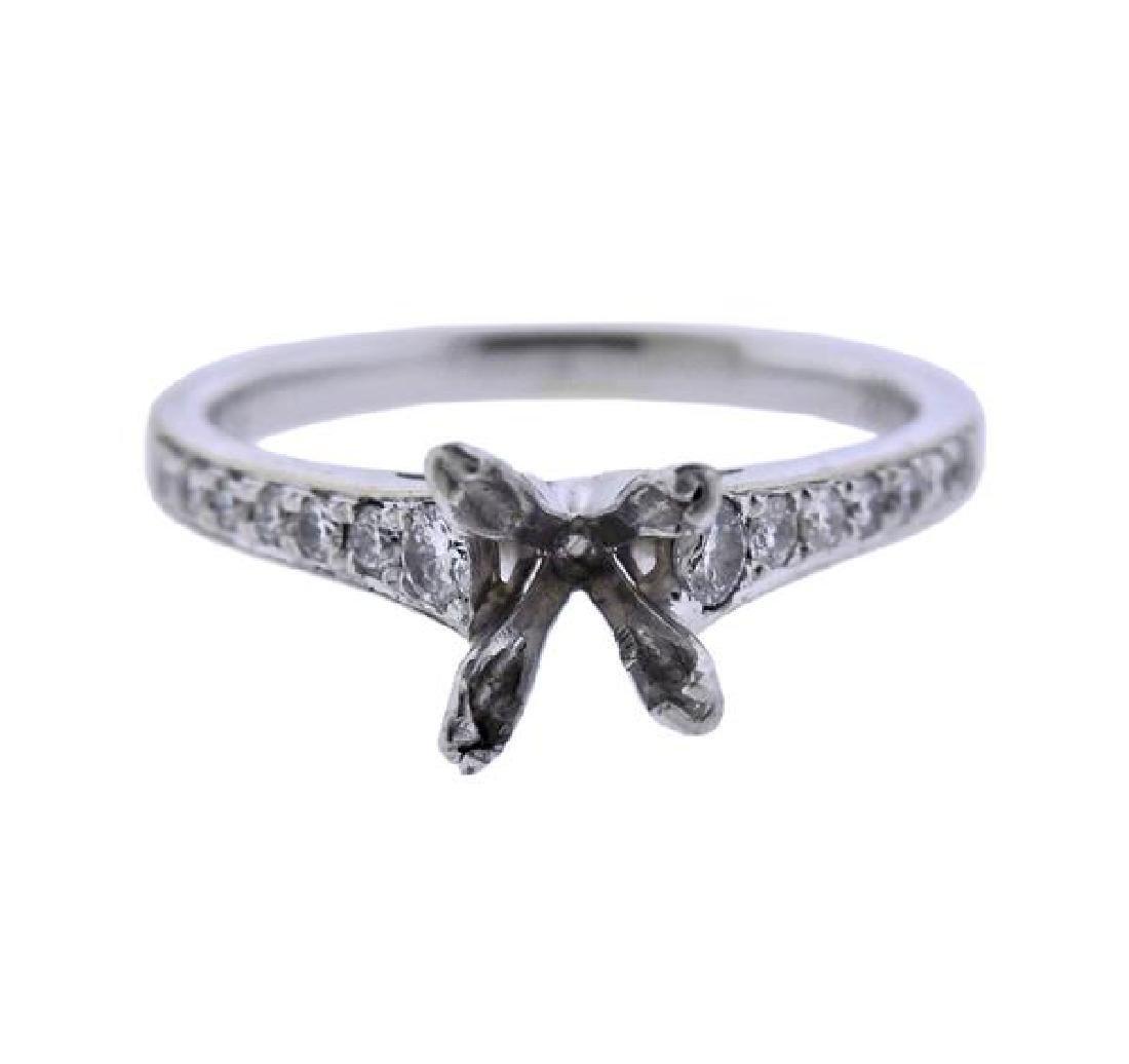 18K Gold Diamond Engagement Ring Mounting