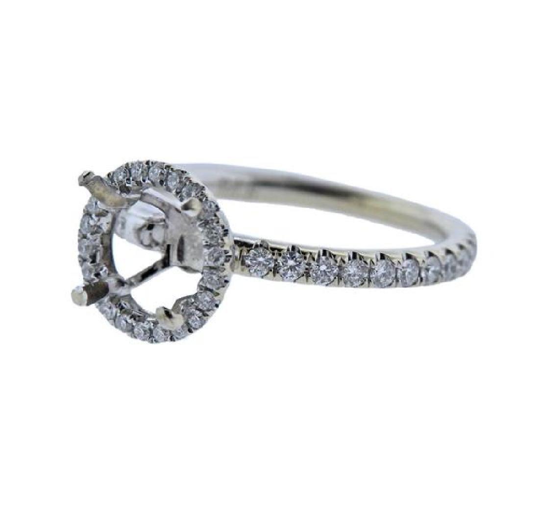 18K Gold Diamond Engagement Ring Mounting - 2