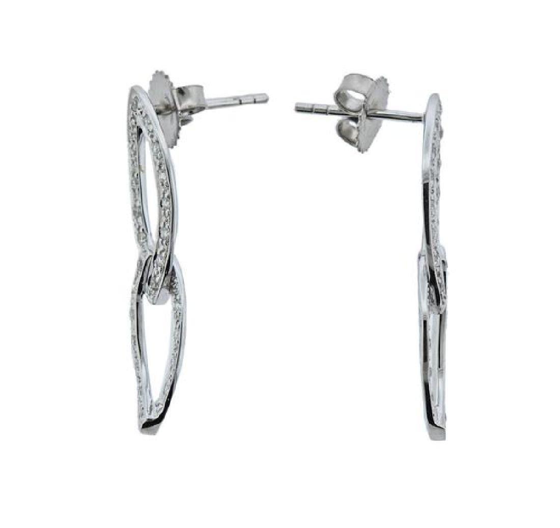 Charriol 18K Gold Diamond Two Links Earrings - 2