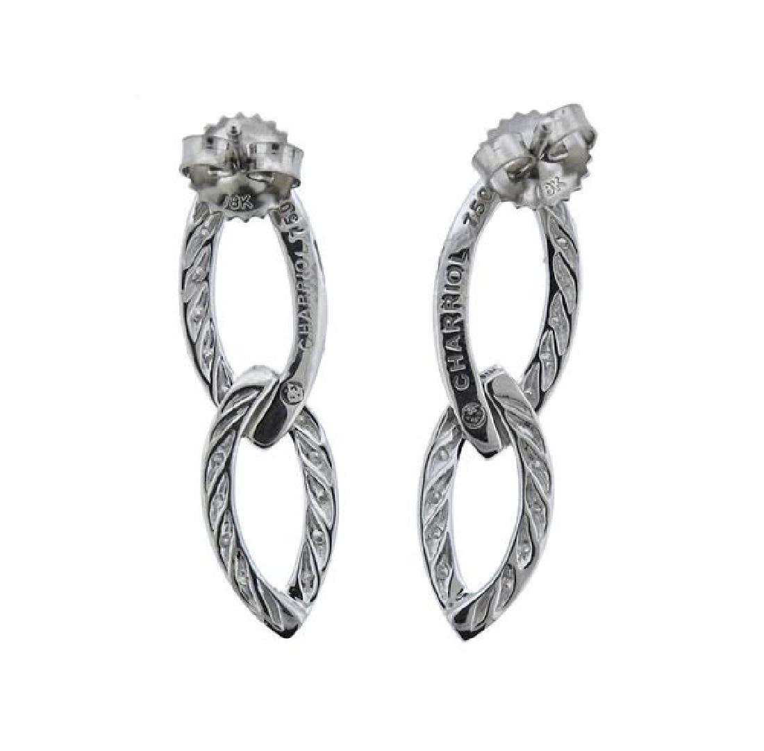 Charriol 18K Gold Diamond Two Links Earrings - 3