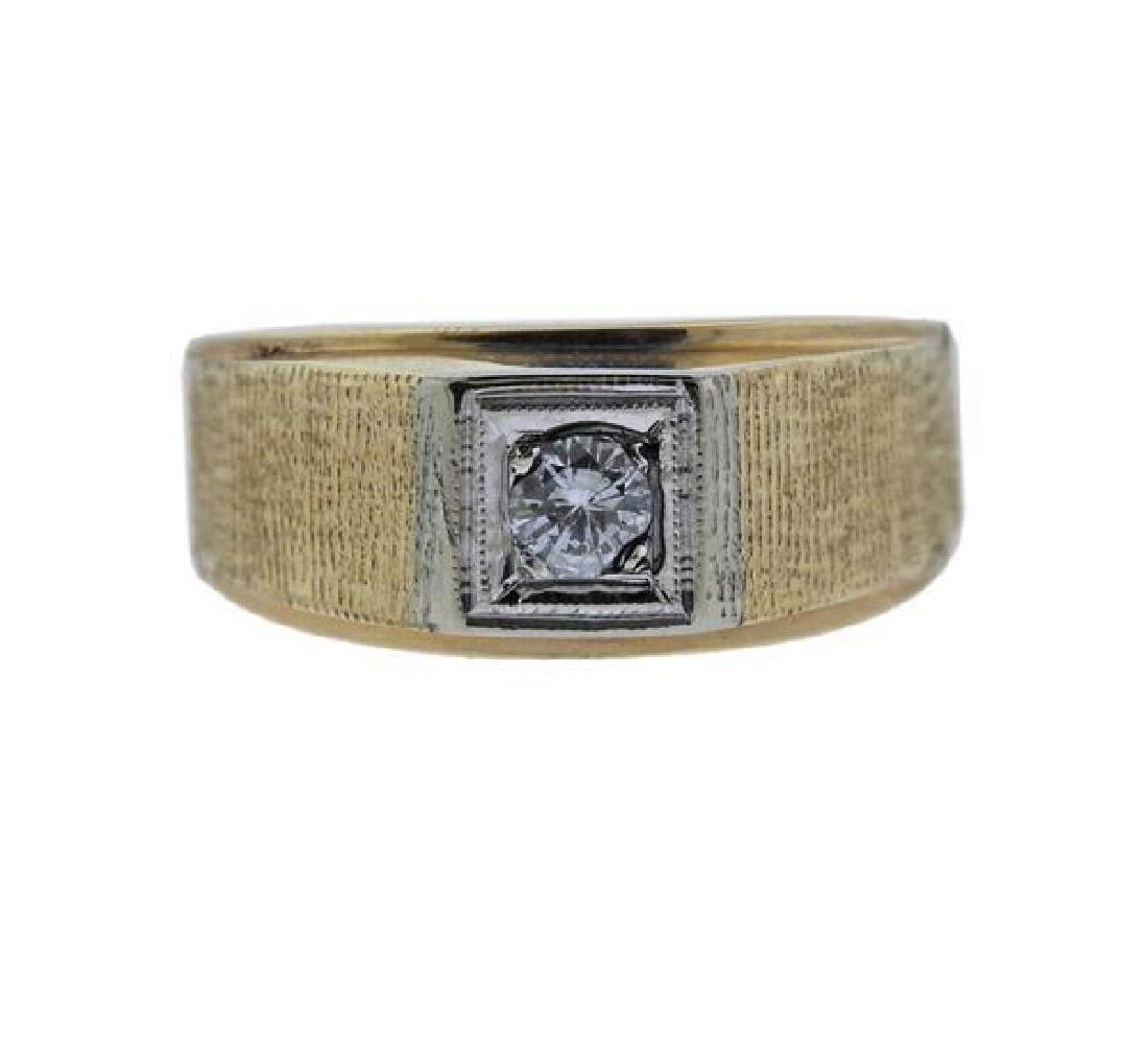 14k Gold Diamond Men's Ring