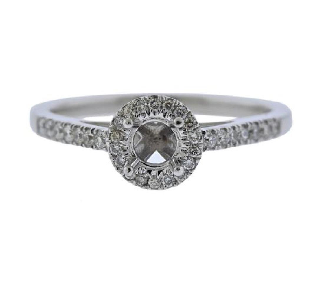 14K Gold Diamond Engagement Ring Mounting
