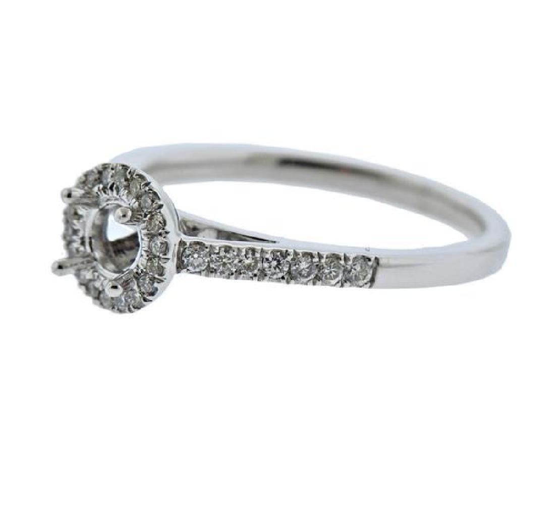 14K Gold Diamond Engagement Ring Mounting - 2