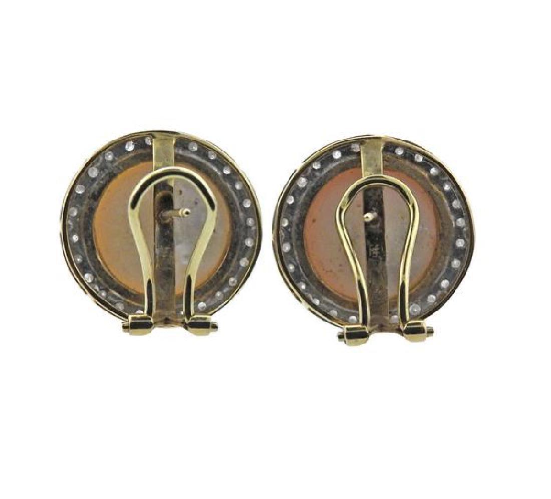 14K Gold Diamond Pearl Earrings Lot of 2 - 6