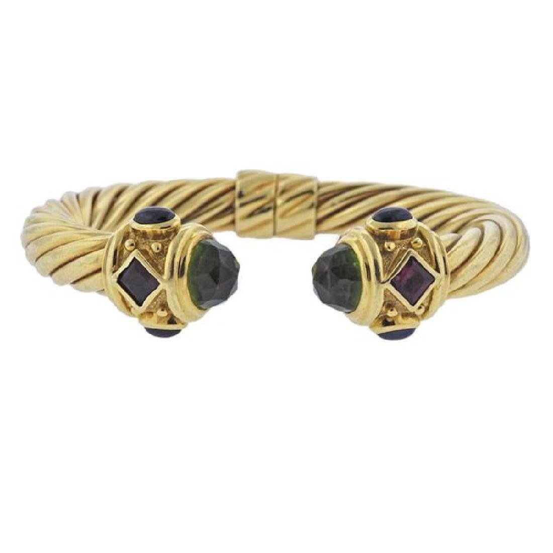 David Yurman Renaissance 18K Gold Multi Stone Bracelet