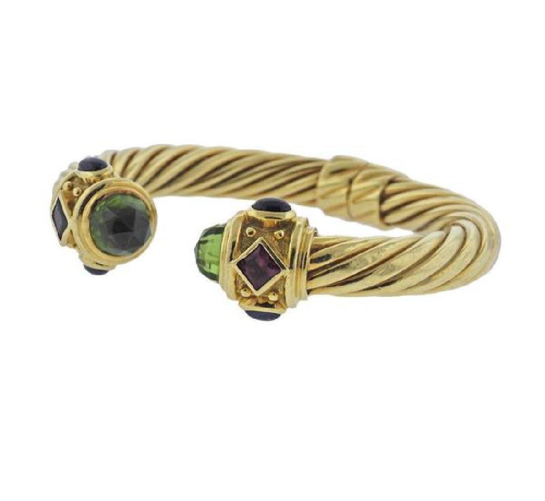 David Yurman Renaissance 18K Gold Multi Stone Bracelet - 2