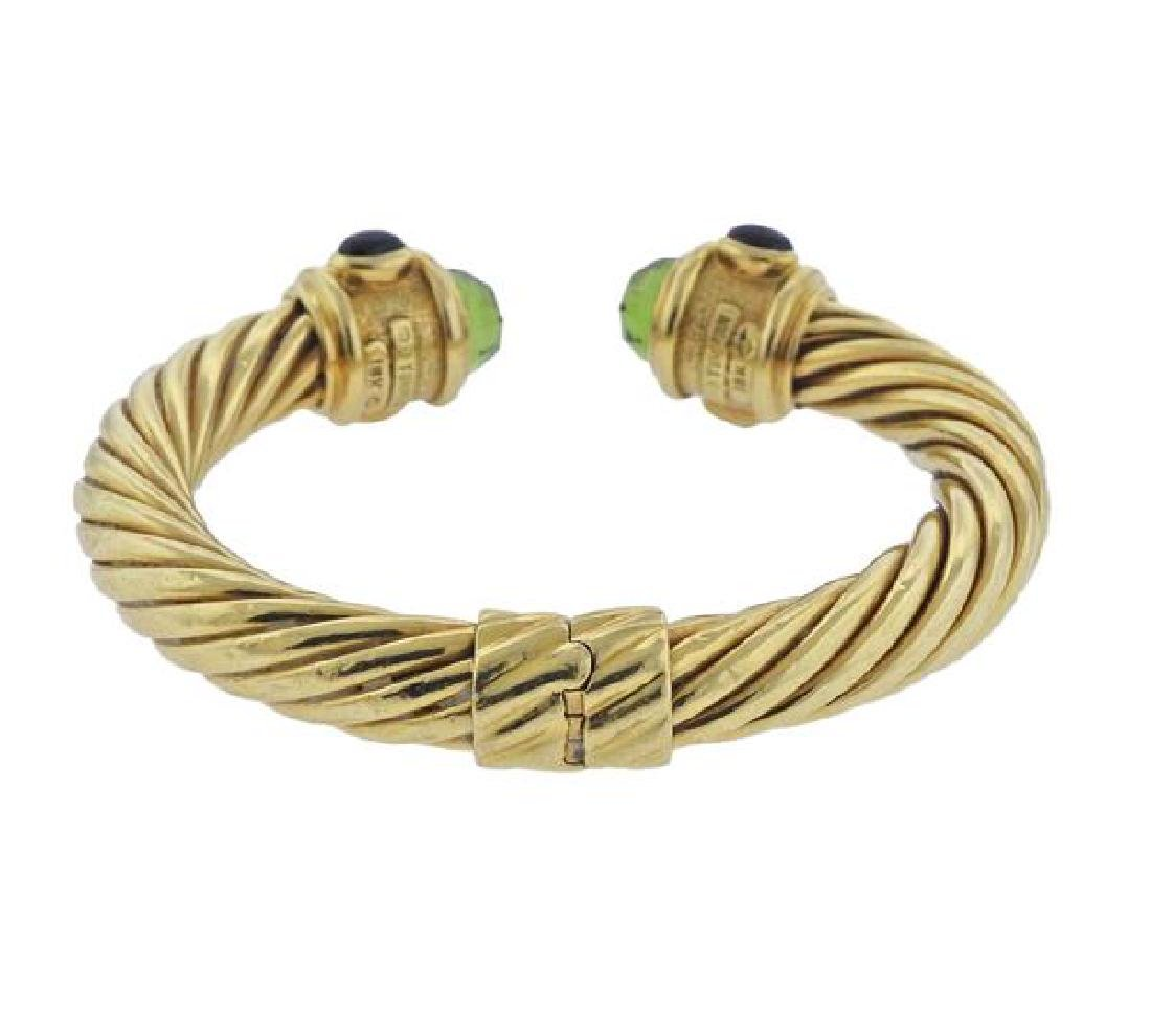 David Yurman Renaissance 18K Gold Multi Stone Bracelet - 3