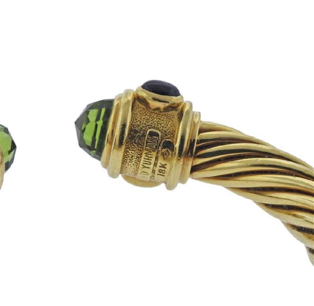 David Yurman Renaissance 18K Gold Multi Stone Bracelet - 4