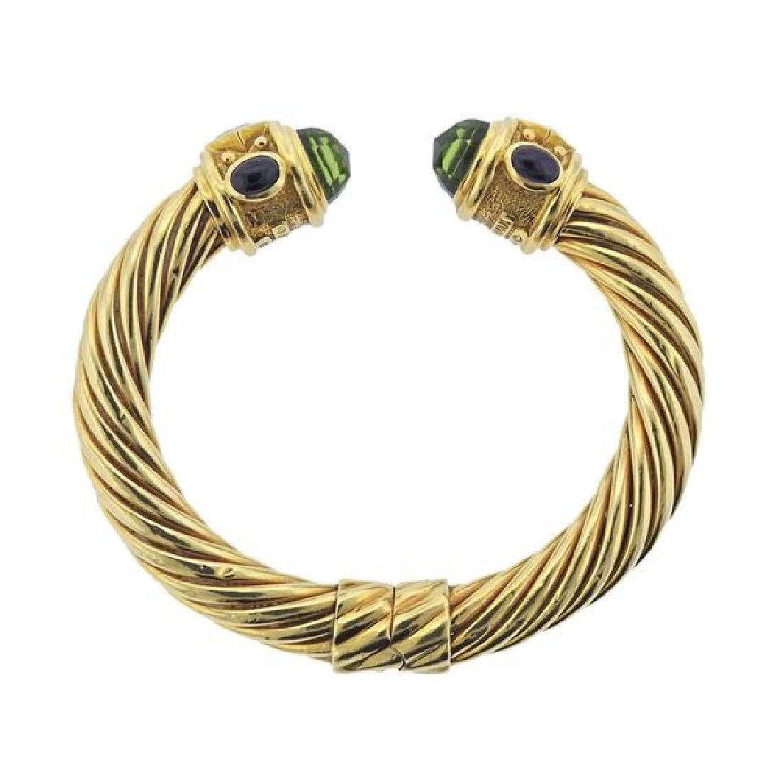David Yurman Renaissance 18K Gold Multi Stone Bracelet - 5