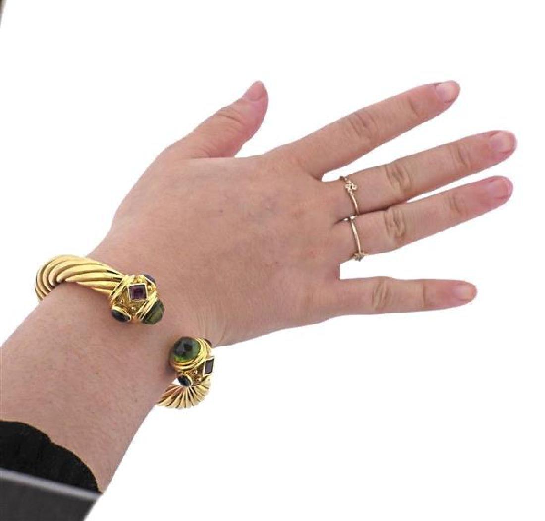 David Yurman Renaissance 18K Gold Multi Stone Bracelet - 6
