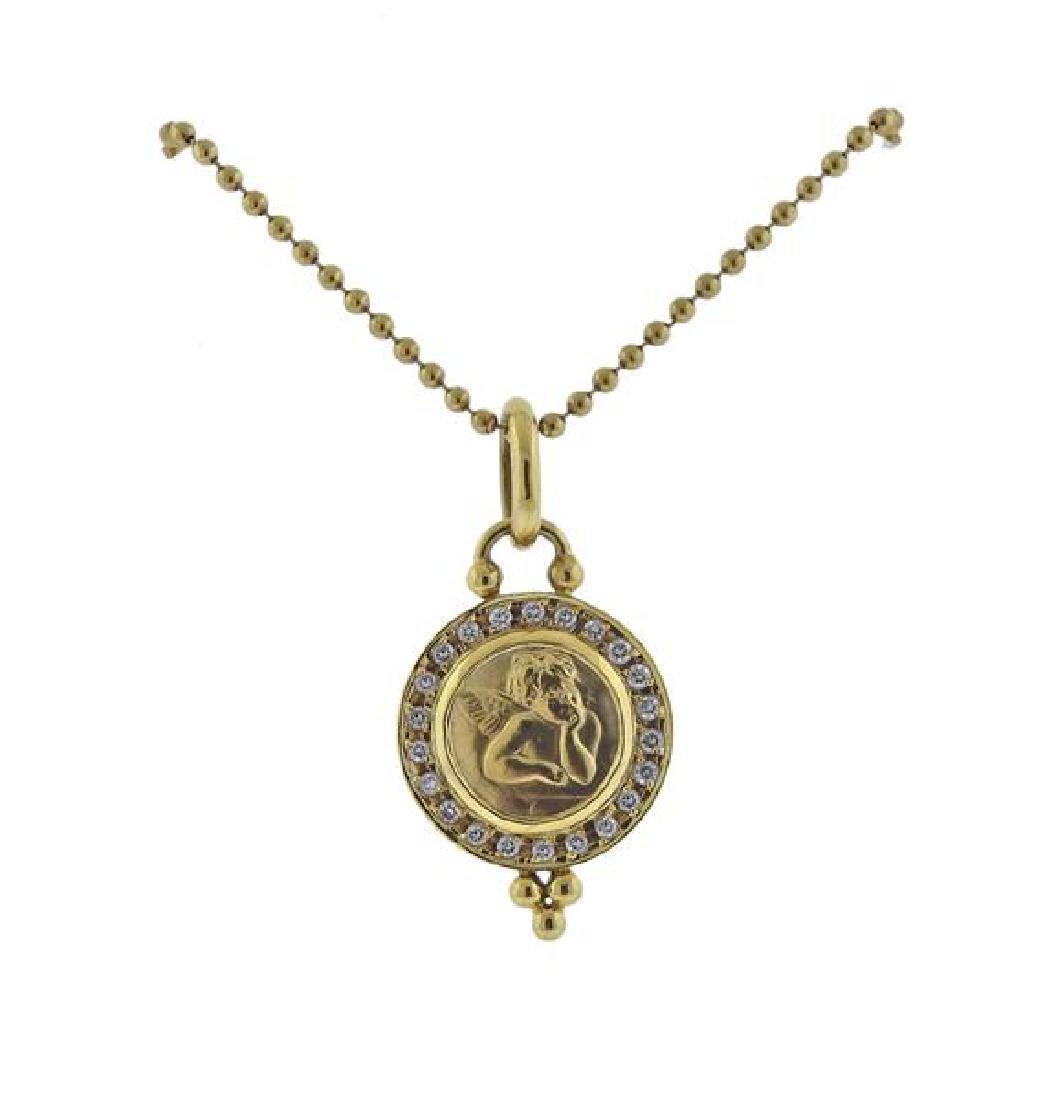 Temple St. Clair 18K Gold Diamond Pendant Necklace