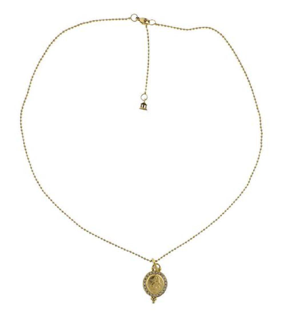 Temple St. Clair 18K Gold Diamond Pendant Necklace - 2