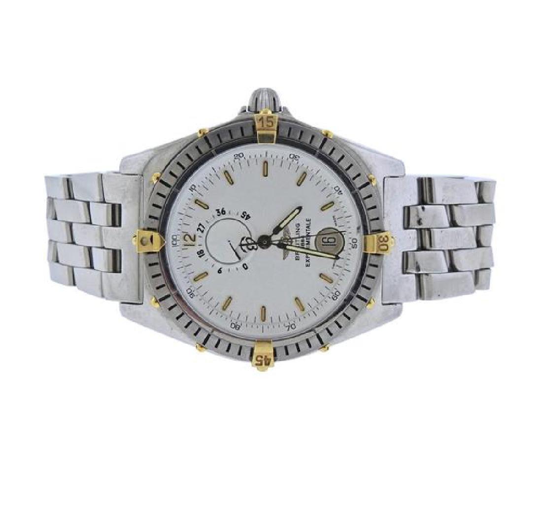 Breitling Experimentale Steel 18K Gold Watch B14047