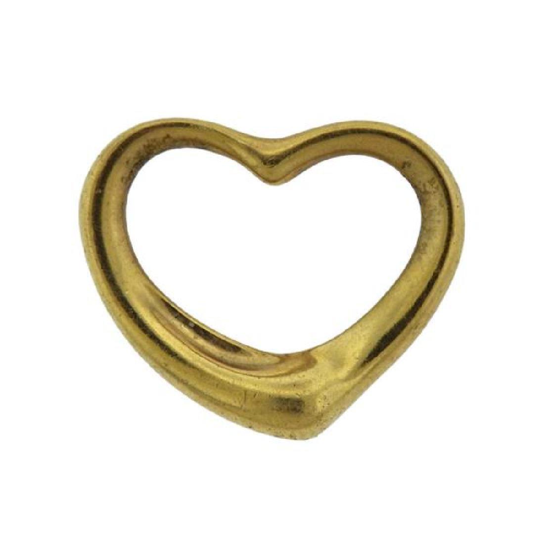 Tiffany & Co Peretti 18K Gold Open Heart Pendant