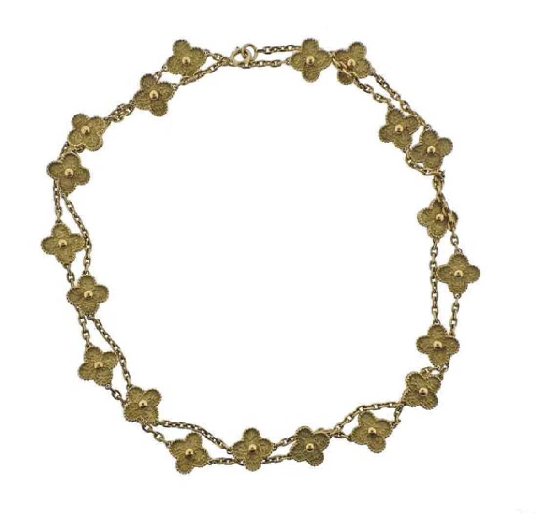 Van Cleef & Arpels Alhambra 18K Gold 20 Motif - 2