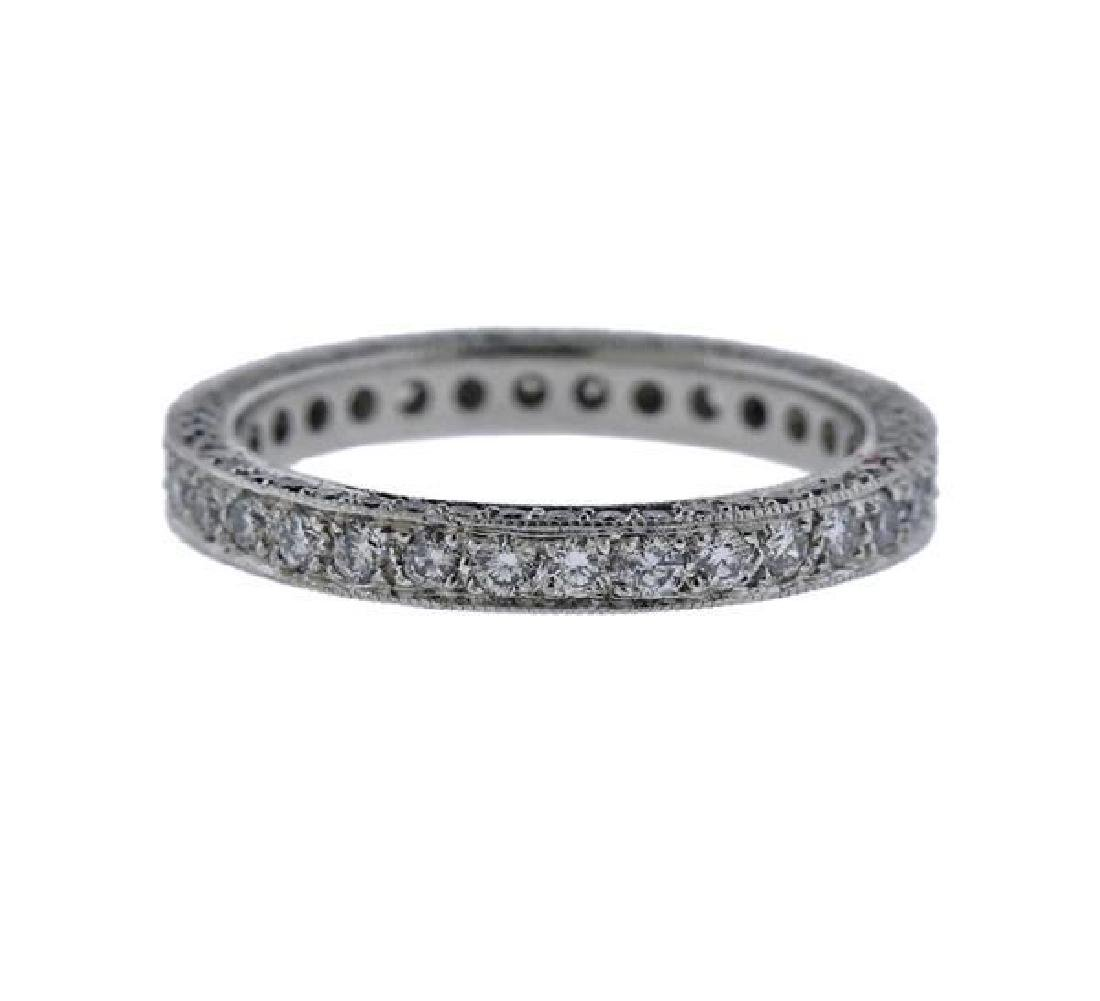 Martin Flyer Platinum Diamond Eternity Wedding Ring